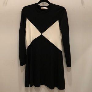 Valentino black ivory sweater dress size large